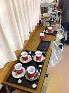 コーヒー喫茶の準備